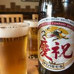 中華そば 三浦 - ビール
