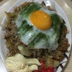 さわき - 2017年4月。炒飯麺にはマヨネーズと刻み紅生姜。