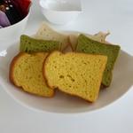 パ・マル - パン3種(米粉、抹茶、南瓜)