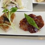 パ・マル - イベリコ豚のグリル(生コショー添え) マンゴー酢豚(ラズベリー風味)
