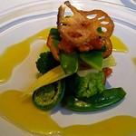 レストラン・セン - 春野菜のミルフィーユ仕立てSen風オレンジソース