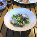 恵比寿 箸庵 - 菜の花とアサリ