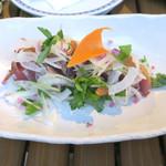 恵比寿 箸庵 - 初カツオのサラダ仕立て