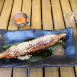 恵比寿 箸庵 - 鴨つくねの竹筒焼き