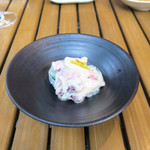 恵比寿 箸庵 - スナップ・エンドウと苺