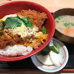 かつ丼 城下町 - かつ丼500円+豚汁セット200円