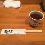 魚家 - お茶 お箸
