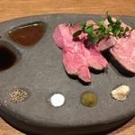 ふうびとすうろ - 厳選和牛のローストビーフ モモとキン肉の食べ比べ1180円