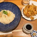 66312168 - 桜海老のかき揚げとぶっかけうどんのセット(¥950)