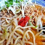 麺屋ばやし - ひき肉たっぷり味噌ら〜めん(大盛り)(「唐辛子ニンニク味噌」を加えて)