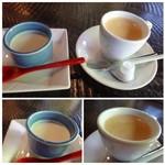 66312751 - ◆デザートは「豆乳チーズプリン」、それに珈琲が付きます。 プリンと珈琲は意外に(失礼・m(__)m)、良い味わいでした。
