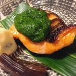 明日香 - 五月焼物 鮭蓼味噌焼き うの花