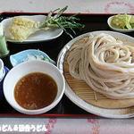田舎うどん てつ - テッピ―+ラッキョの天ぷら