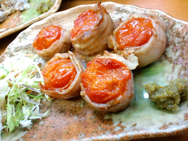 はながさ - 【2011年1月】プチトマトの3枚肉巻¥380