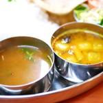 南インド料理 マハラニ - Rassam・Sambar
