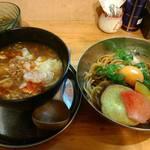 中華そば de 小松 - カレーあんかけつけ麺