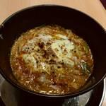 中華そば de 小松 - 焼きチーズ雑炊
