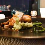 sky - 松阪豚ロースのグリル、春の山菜と生姜のアクセント