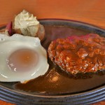 レストラン岡崎 - ハンバーグステーキ(1400円)