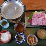 レストラン岡崎 - 近江牛鉄板焼定食(2800円)