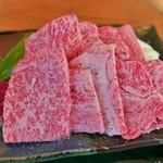 レストラン岡崎 - 近江牛鉄板焼定食のお肉