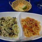 パセット - 和風とトマトソース2種盛りパスタ