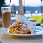 コーヒーハウス ショコラ - マカダミアナッツクリームのパンケーキ
