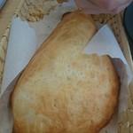 未来カレー こりす - ナンのようなパン