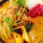 66328199 - おばぁのよそ行き天ぷらカリー(蕎麦+極上豚角煮)