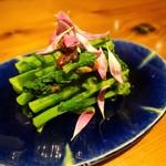 玄蕎麦 路庵 - 菜の花のしょうゆ豆和え