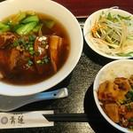 66330199 - 豚の角煮麺と麻婆丼