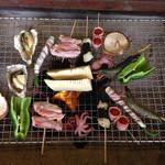 竹仙郷 - 自分で起こした炭火だと美味しさ倍増