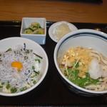 66336392 - ぶっかけ稲庭&シラス丼