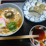 66337840 - 鯖寿司うどんセット 1,000円