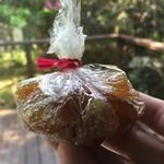 らかん寿し 松月 - これも女将さん作のミカンの皮の砂糖煮、お土産でいただきました