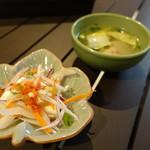 ブルーパパイアタイランド - 2017.04 サラダとスープ付で1000円