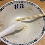 66345993 - 桂花ラーメン新宿末広店(スープ完飲)