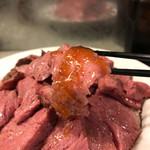 ビーフバンク - ステーキ丼Lサイズ450g! ★★★★☆