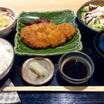 旬彩 和央 - 「今週のおすすめ定食」(800円)。今回はとんかつだった。