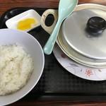 はれやま食堂 - 肉なべ定食