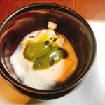 66353279 - 『祇園なかき』のおぼろ豆腐~抹茶味噌~