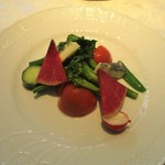ギンザ カンセイ - 前菜のサラダ