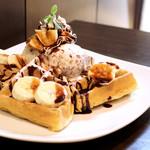 GB style-CAFE - バナナチョコのワッフル
