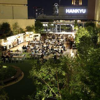 阪急百貨店の屋上広場ビアガーデン