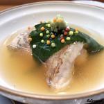 日本料理 旬菜和田 - のどぐろの桜飯蒸し