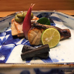 日本料理 旬菜和田 - 桜鱒と筍の木の芽焼、鰆の西京漬