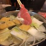 しゃぶ扇 - 料理写真:豚ロースしゃぶしゃぶ定食  950円 (野菜食べ放題)