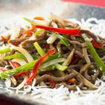 中華料理 桃李 - 牛肉と彩り国産野菜の細切り炒め