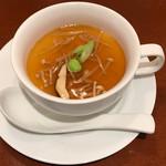 中華ビストロうちだ - 中華ビストロランチ の スープ