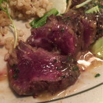 66362695 - 牛ハラミのがっつりスタミナプレート 肉はレア❗️
